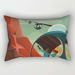 SpaceX Travel Poster: Olympus Mons, Mars Rectangular Pillow