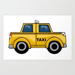 Yellow Taxi Art Print