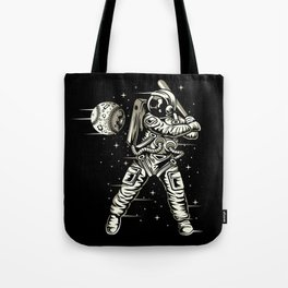 Space Baseball Astronaut Tote Bag