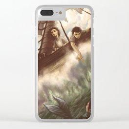 Seas of Adventure Clear iPhone Case