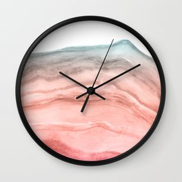 Agate Art Southwest Colors Wall Clock