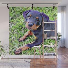 Rottweiler Puppy Wall Mural