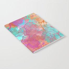 color splatter watercolor digital print Notebook
