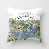 dc Throw Pillows featuring Washington DC by Brooke Weeber