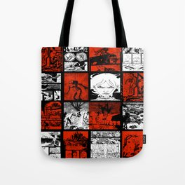 RED & WHITE - A nne Frankenstein Book I - Resurrection Tote Bag
