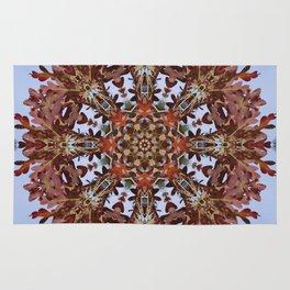 Autumn oak and pine kaleidoscope Rug