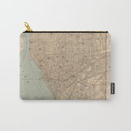 Vintage Map of Buffalo NY (1895) Carry-All Pouch