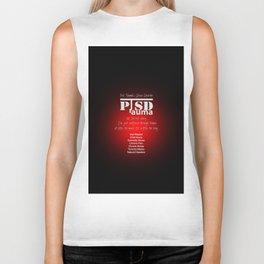 PTSD: Post Traumatic Stress Disorder / Black & Red Biker Tank