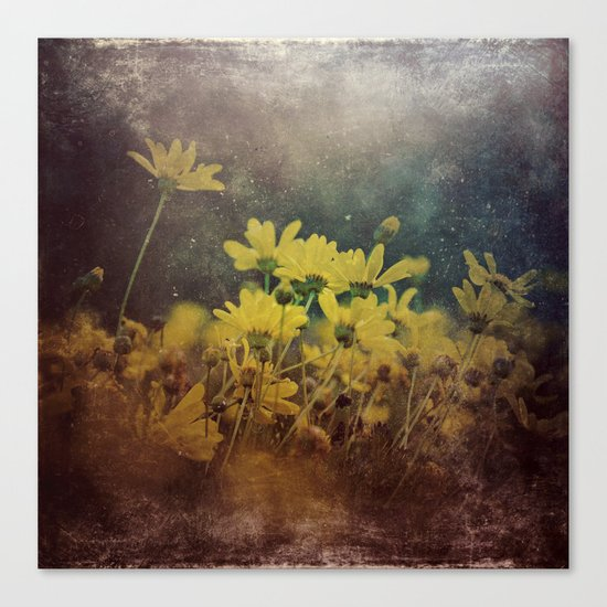 Abstract Yellow Daisies Canvas Print
