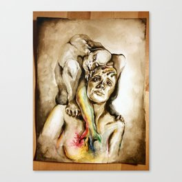 Depression Monster Canvas Print