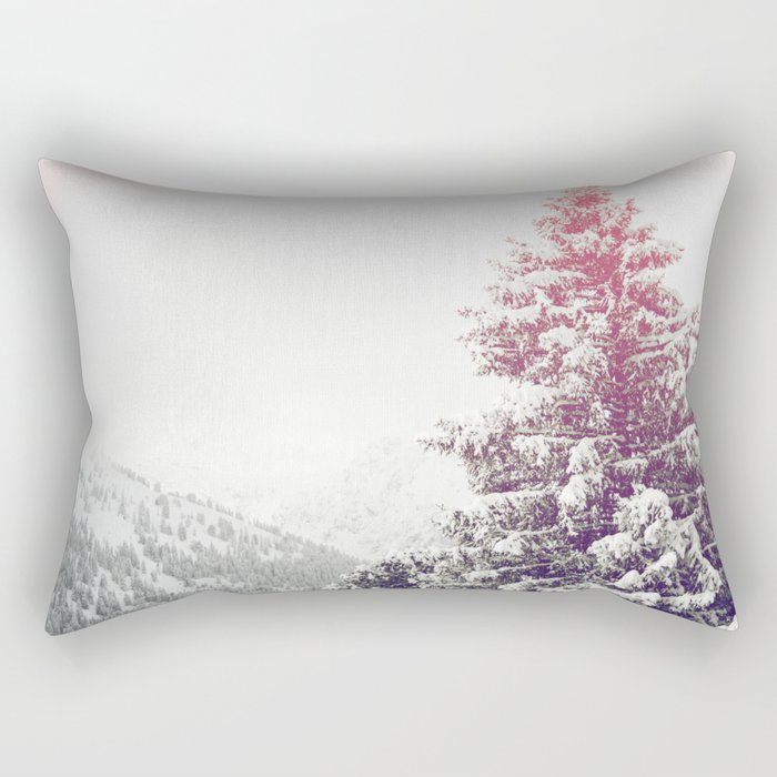 Snow on Trees Rectangular Pillow