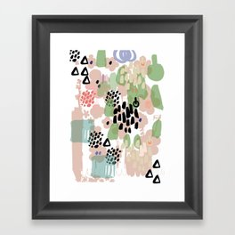 spring 2 modern contemporary Framed Art Print
