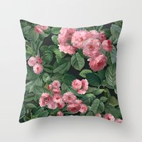 amelie Throw Pillows featuring Amelie by Marta Li