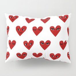 Heart love valentines day gifts hearts with faces cute valentine Pillow Sham
