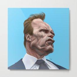 Arnold Schwarzenegger caricature Metal Print