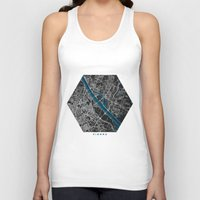 vienna Tank Tops featuring Vienna city map black colour by MCartography