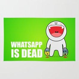 Whatsapp is dead Rug