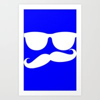 mustache Art Prints featuring Mustache by siti fadillah