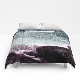 Navy Blue Sea Water Comforters