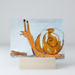 Cinnamon snail Mini Art Print