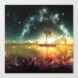Space Tree Canvas Print