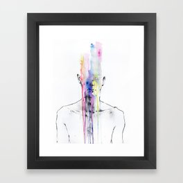 All my art is on you but you still don't hear me Framed Art Print