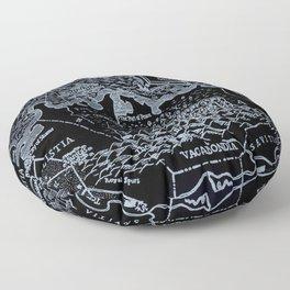 Map of Bohemia (black & white) Floor Pillow