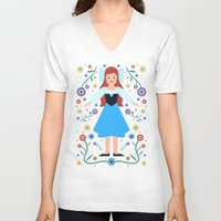 ariel V-neck T-shirts featuring Ariel by Carly Watts