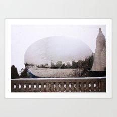 Snowy Bean Art Print
