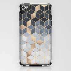 Soft Blue Gradient Cubes iPhone & iPod Skin