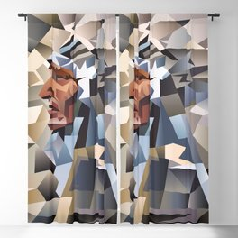 Cubism American Native #3 Blackout Curtain
