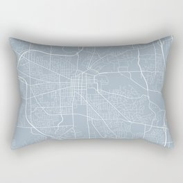 Ann Arbor Map, USA - Slate Rectangular Pillow