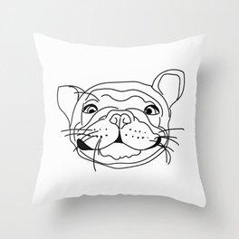 Smilie Frenchie Throw Pillow