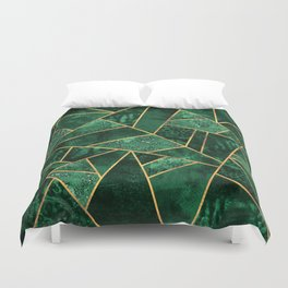 Deep Emerald Duvet Cover