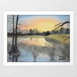 Nudity On The Water Art Print