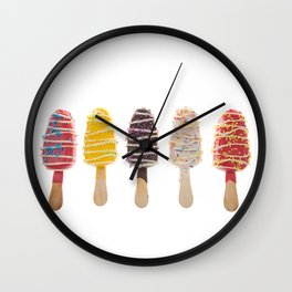 Delightfully Sweet Popsicle Cake Pops Wall Clock