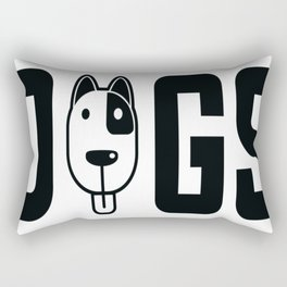 Dogs...I can't have them all Rectangular Pillow