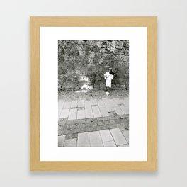 The German Violinist  Framed Art Print