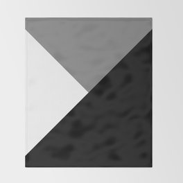 Black and White Angles Throw Blanket