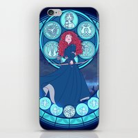 merida iPhone & iPod Skins featuring Merida by NicoleGrahamART