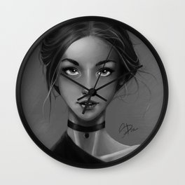 Portrait Study Wall Clock