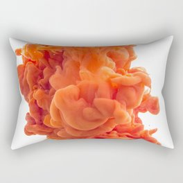 Drop Orange Paint Rectangular Pillow