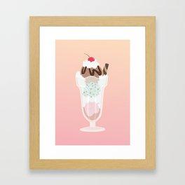 sundae sunday Framed Art Print