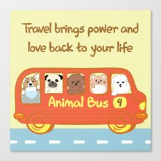 Animal bus no.9 Canvas Print