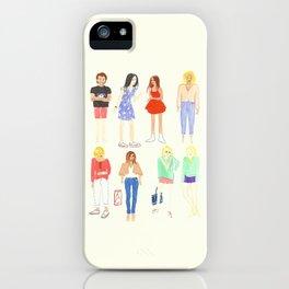 Technicolor folks iPhone Case