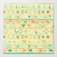 tribal Canvas Prints featuring Tribal by Sunshine Inspired Designs