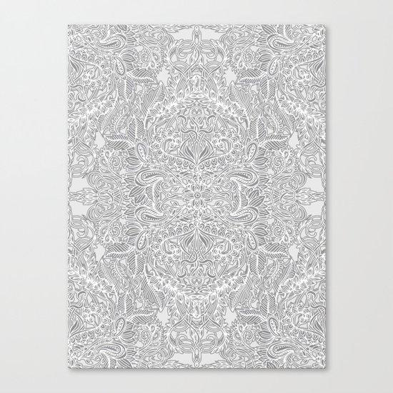 Frost & Ash - an Art Nouveau Inspired Pattern Canvas Print