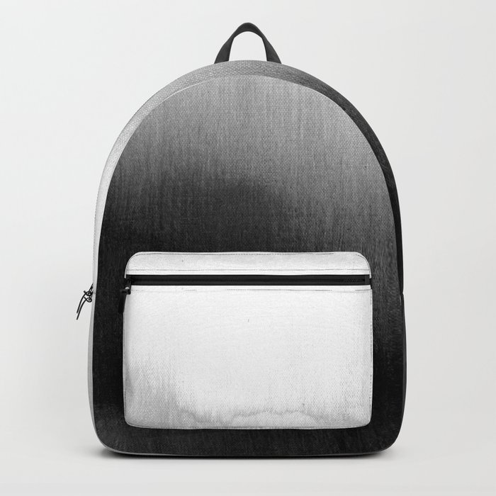 Modern Black and White Watercolor Gradient Backpack