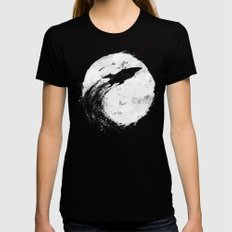 Midnight Delivery SMALL Womens Fitted Tee Black