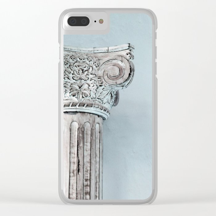 Corinthian capital Clear iPhone Case